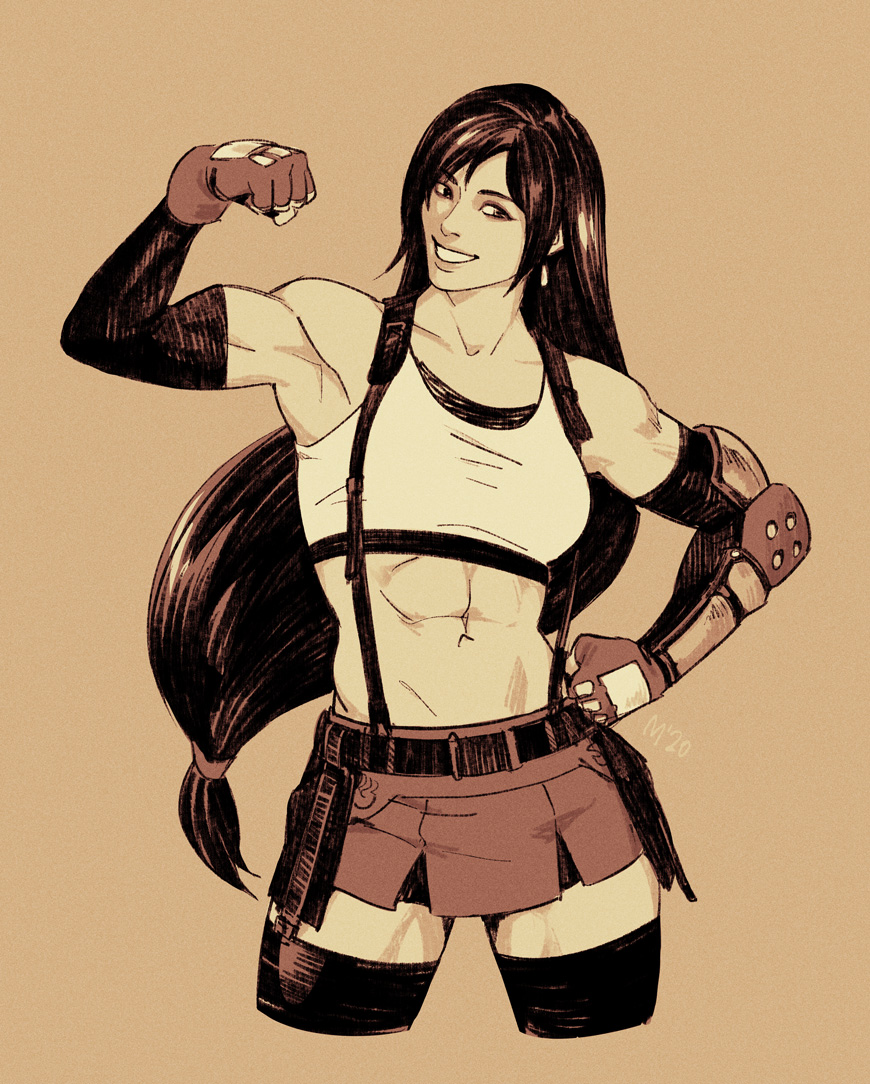 misc tifa drawings from the past months  experimenting a little with style so she looks different every time I draw her  <br>http://pic.twitter.com/ag31pbeWIL