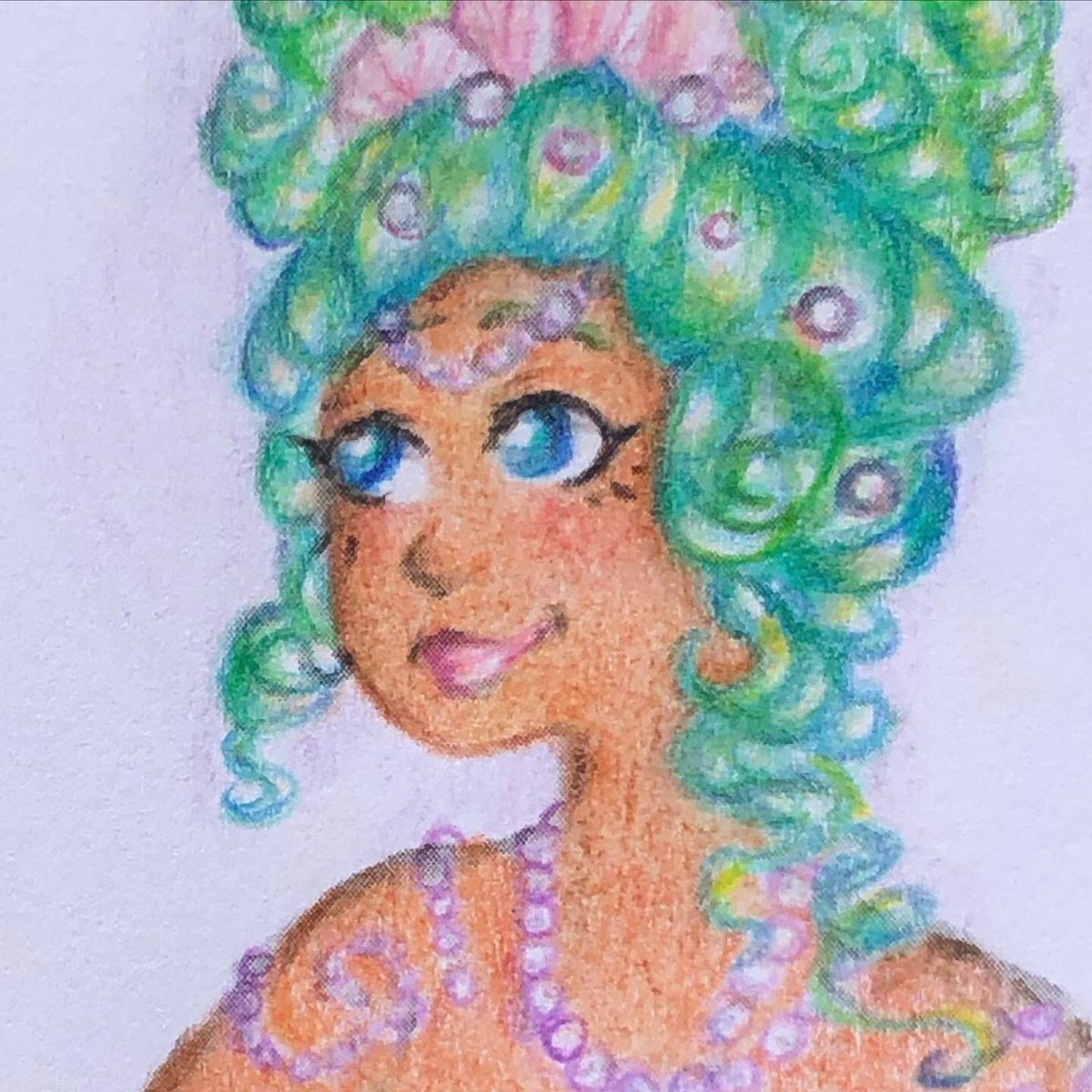 A #dtiys I did for mermay. #mermaid #drawthisinyourstylechallenge #colorpencilpic.twitter.com/4EsV9FErKV
