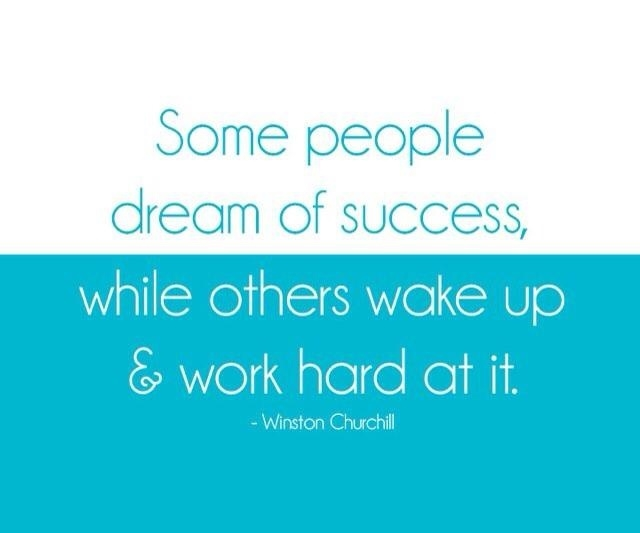 Some people dream of success, while others wake up & work hard for it. --Winston Churchill #AchieveYourDreams #WakeUpWorkHard #WorkHard #WakeUp #WinstonChurchill #Success #BelieveYouWill. https://t.co/SJwc8MajkO