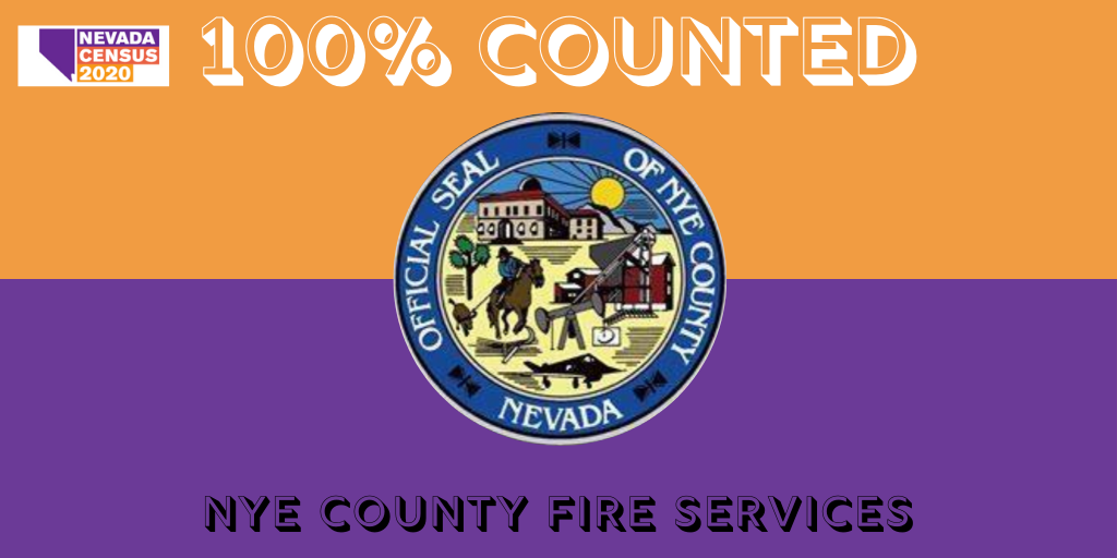 Congrats to @NyeCounty's Fire Services for achieving a full count in the #2020Census! 🎉  You brought in $200,000! Thanks for ensuring Nevada has the federal funding we need to support our nonprofits, health care facilities, and small businesses.  Go to https://t.co/HFbgUbLvKy! https://t.co/rbYJvv3xNV