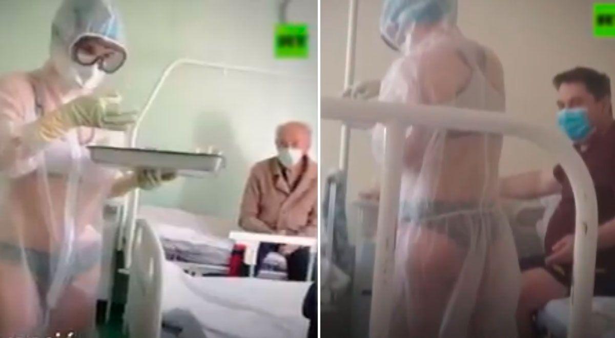 #viral Conoce a la enfermera que atiende a pacientes COVID-19 con bikini y que ahora es modelo | VIDEO ► https://t.co/URKyyanjdo https://t.co/cnrX2BjZC7