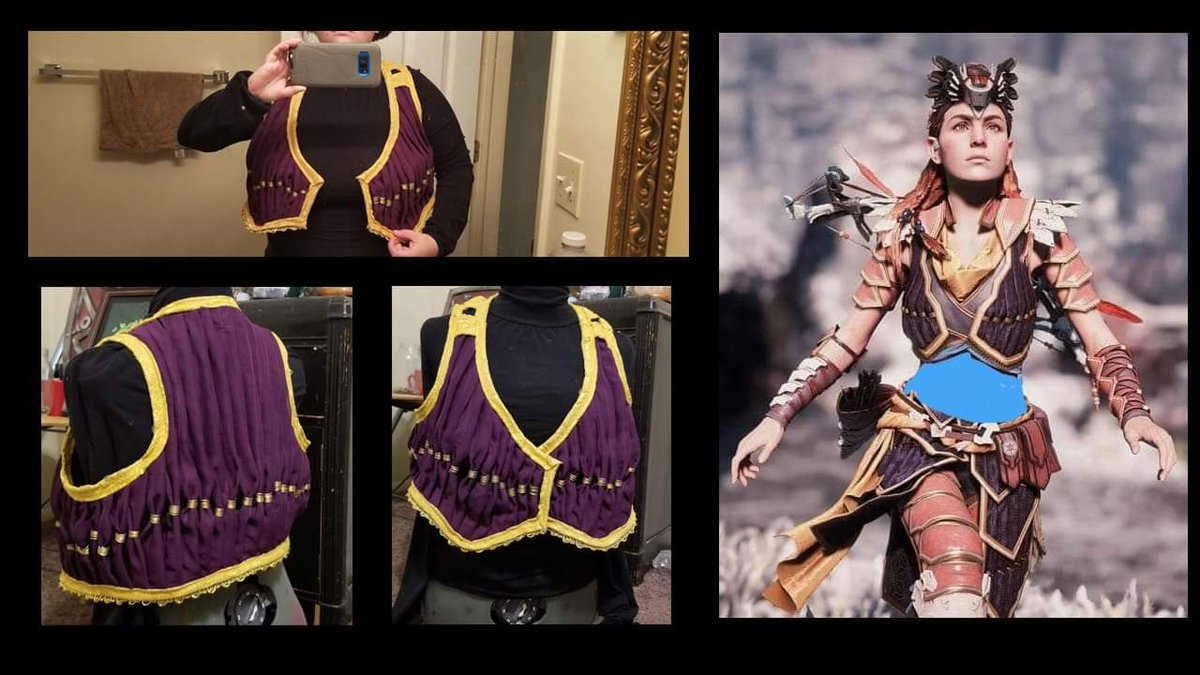 Vest finished. Looking forward to making the armour. #horizonzerodawn #horizonzerodawngameplay #horizonzerodawncosplay #aloyhorizonzerodawn #zerodawn #playstationgames #playstationgamer #guerillagamespic.twitter.com/OhyPK9LgnR