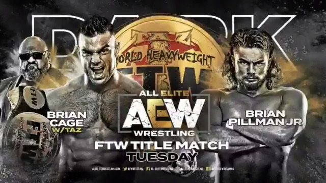 SEVEN matches are ready for #AEWDark with your main event set as a #FTW championship match between the champion @MrGMSI_BCage & challenger @FlyinBrianJr. Watch #AEWDark every Tuesday at 7e/6c via our YouTube channel at youtube.com/allelitewrestl….