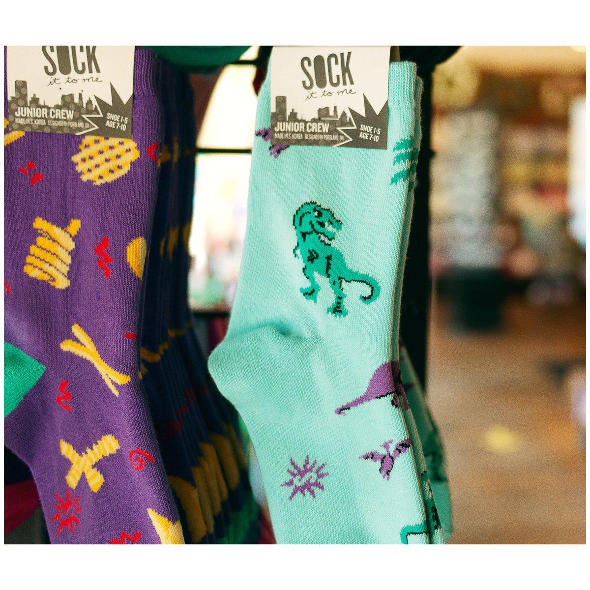 Assert your dominance with dino socks.  #kc #kcmo #kansascity #brooksidekc #shoplocalkc #bkskc #smallbusinesskc https://t.co/o2jt4HG5UP