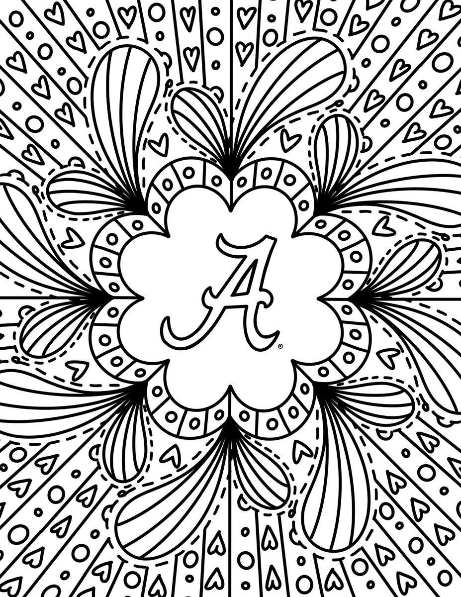 We hope you're finding a little time to relax this weekend - you deserve it! 💯 No matter your age, it's a good time to break out the coloring pencils, crayons or markers + get to work on one of our coloring sheets. 👍 Share your masterpieces with us: social@ua.edu 🐘 #RollTide https://t.co/CBUT5h3nQy