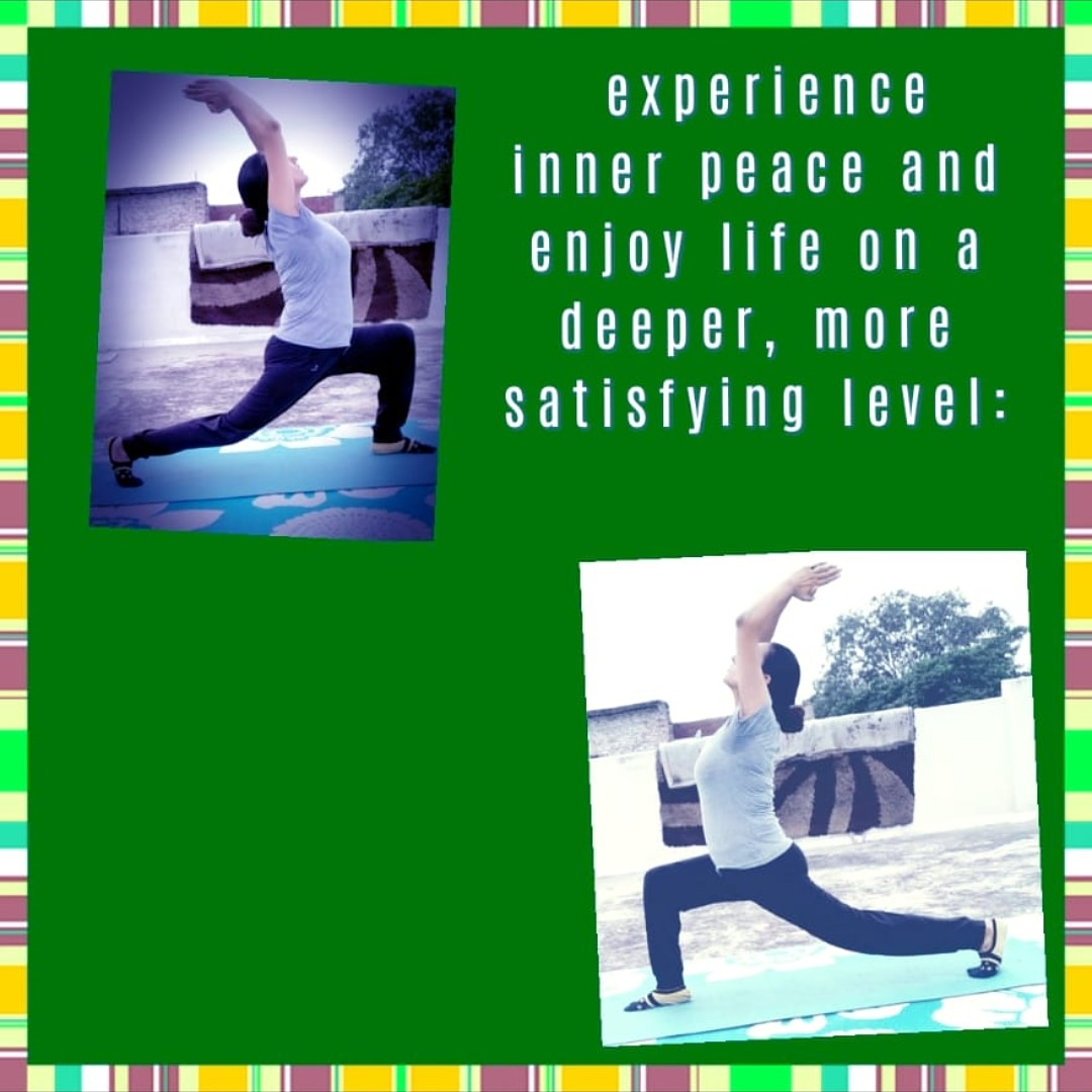 my experience inner peace and enjoy life on a deeper, more satisfying level:  Exercise on a regular basis.   You can book Dietitian Kanak Gupta's Consultancy @ https://dietkanak.knowyourfood.in  #yogalife#meditate#nature#lovelife#GoodEatinghabits#exerisemotivation#healtyfood# pic.twitter.com/wSadBrqxxr