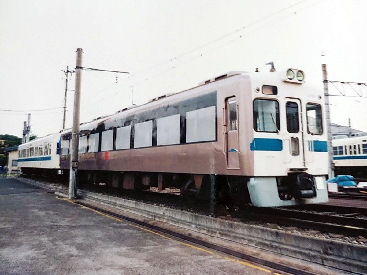 小田急30000形EXEの登場前に行われた廃車車両を使用した塗装試験。(1994年/大野工場)#小田急 #ロマンスカー #EXE #30000形