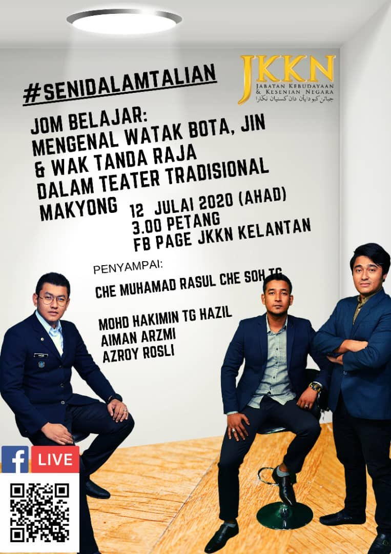 Jkkn On Twitter Jangan Lupa 3 Petang Ini Di Facebook Page Jabatan Kebudayaan Dan Kesenian Negara Kelantan