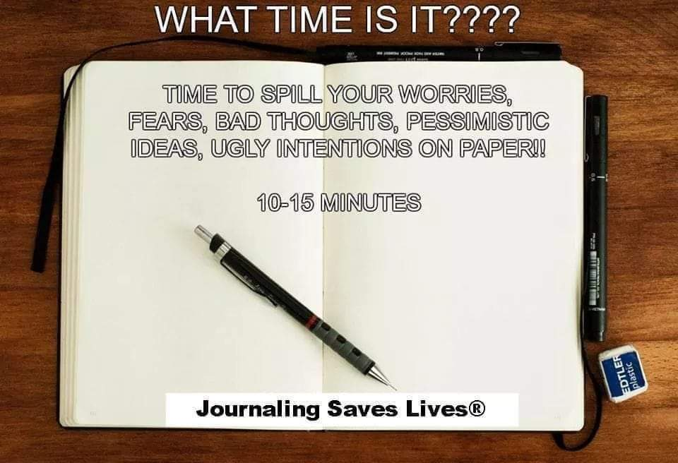 Take some time to journal before bed!!! I promote mental and emotional well-being #MentalHealth #mentalhealthawareness #minoritymentalhealthawarenessmonth #mentalillness #JournalingSavesLivespic.twitter.com/cGVJniZNhX