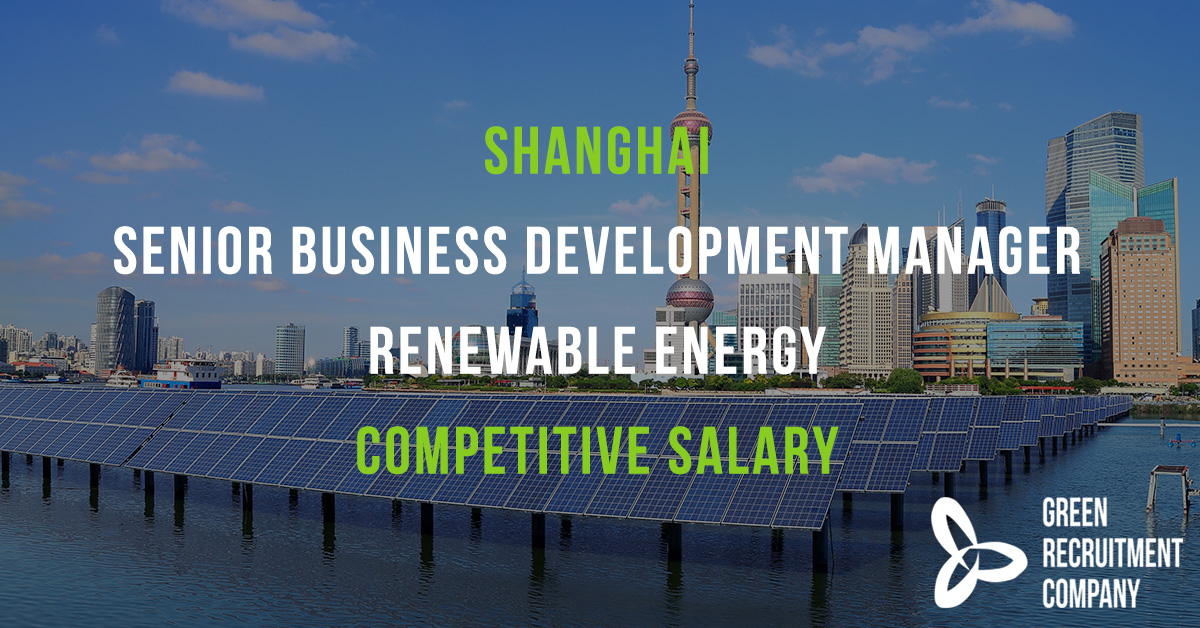 We have a role in #Shanghai for a Senior #BusinessDevelopment Manager for an international #RenewableEnergy business. Competitive salary and bonus. To apply please email Vivienne Zhang; vivienne@greenrecruitmentcompany.com #ConnectingGreenTalent #Careers #CleanEnergy #China #APAC https://t.co/O1TntGQG5e