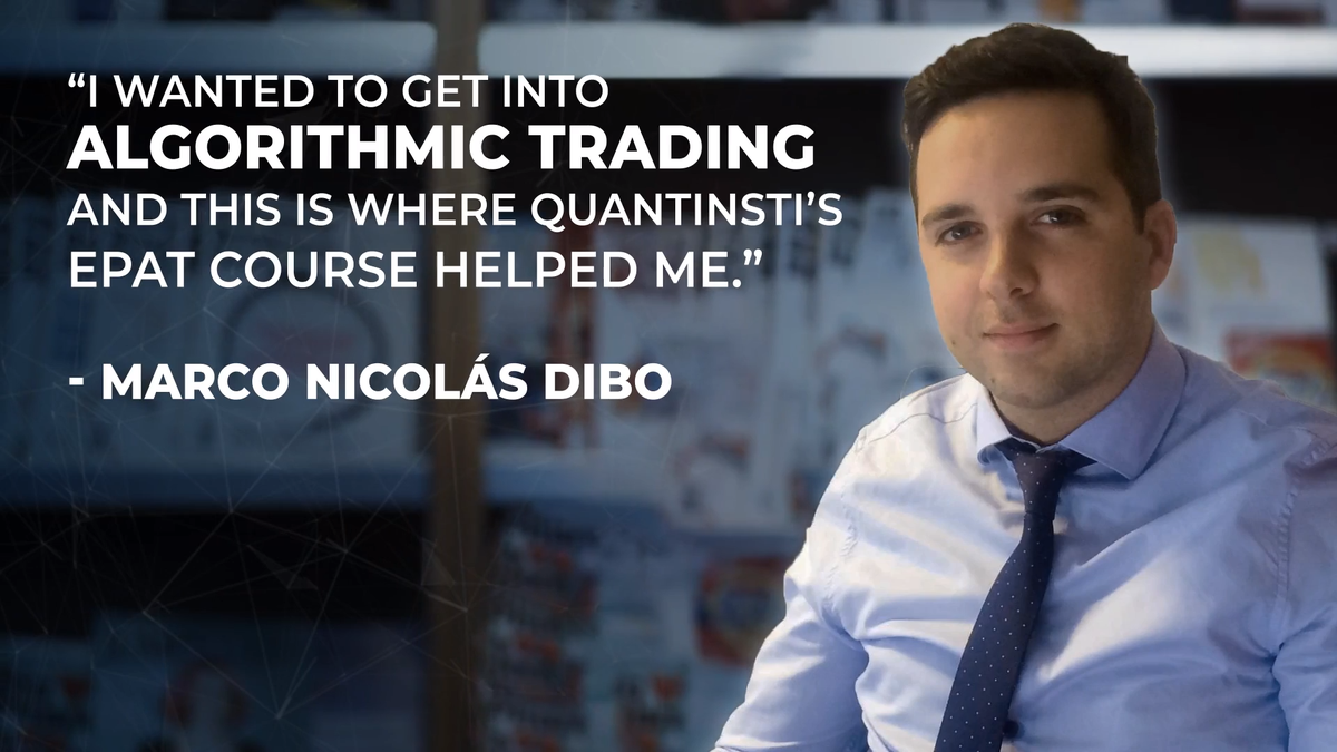 It gives us joy when we're able to guide some fine individuals like #EPAT Alumnus Marco, who have been able to become a part of the Algorithmic and Quantitative Trading domain through our Executive Programme in Algorithmic Trading (EPAT). https://t.co/38aNnurDmB