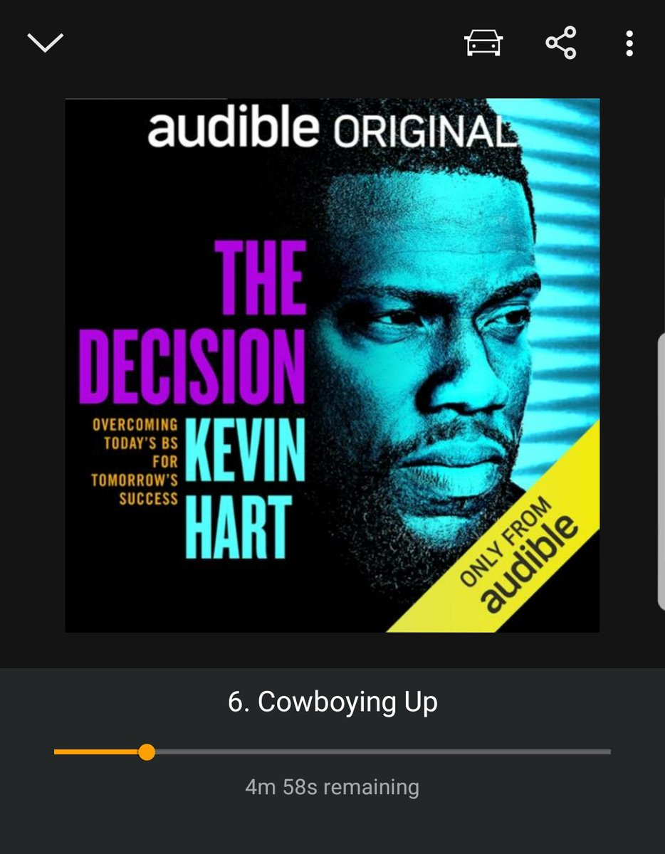 Really needed this book in this season of my life right now. If you are not listening to this what are you waiting for. Great motivation for anyone. Great work @KevinHart4real https://t.co/FhRBiDQByf