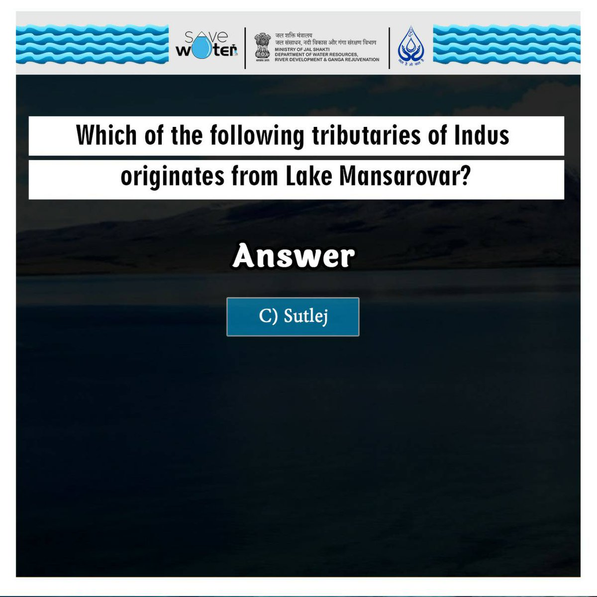 Think, Learn, Execute..!!  Here's the answer to yesterday's quiz👉(C).  Follow us on  Twitter:  https://t.co/wV7FpIz6cn  Facebook:  https://t.co/jql0P7TnrW  Instagram:  https://t.co/c0v2xIs8bh  #SaveWater #Quiz #Water https://t.co/hvn4atDMuW