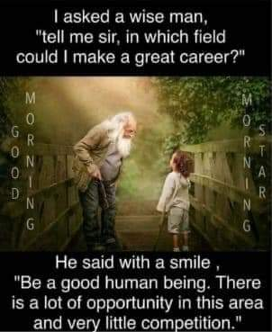 Yes... be a good human 😇 #ThinkBIGSundayWithMarsha #love #lifestyle #quote #MotivationalQuotes #HumanityFirst https://t.co/j2X7t1r12I