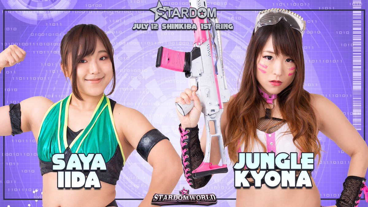 STARDOM  NEW SUMMER2020 7月12日(日)新木場1stRING ◆シングルマッチ ジャングル叫女(10分44秒、ダイビング・ボディプレス→エビ固め)飯田沙耶 https://t.co/OpuxPjM6kb