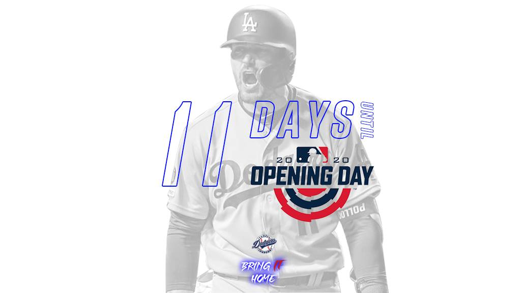 Only 11 days left until Opening Day! #OpeningDay2020 #AJPollock #Dodgers #LetsGoDodgers #BringItHome #RevengeTourpic.twitter.com/ck5pHswcQ6