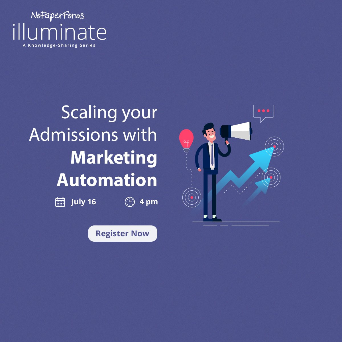 Join us this Thursday at 4 pm as our geeks share ways for you to evolve your strategies with Marketing Automation and further uncover such practices on a live product walkthrough.   Register Now: https://bit.ly/3c1jtdt  #AdmissionsUninterrupted #Illuminate #EdTechpic.twitter.com/kw4cPlb4H3