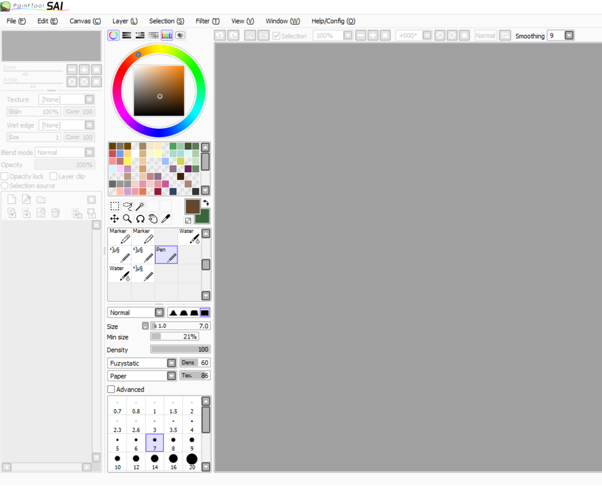 It's really nice to see how many people still use Painttool SAI tbh?!  I'm curious - what's your #SAIsetup? Personally I love to use swatches, the textured pencil brush, and a crisp 9 stabilizer lol pic.twitter.com/fpCOQlNoJ6