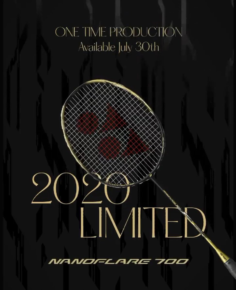 【 NANOFLARE700】 ブラック×ゴールドの高級感溢れるデザインの限定カラーが7月下旬に発売予定!早いもの勝ちです💨サイズは4U5と5U5のみ! 宜しくお願いします😃 #バドミントン  #バドミントンショップ  #バドミントン専門店  #ヨネックス  #ナノフレア  #ナノフレア700  #富山市 https://t.co/yAZYLS0LWe