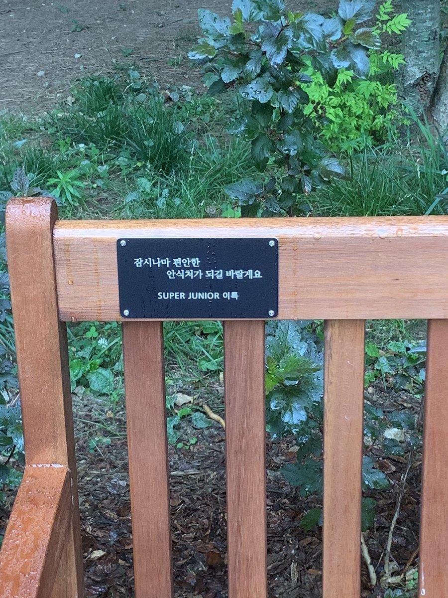 #이특버블    비오는날 이특벤치😂😂   일부러 볼려고 서울숲 갓는데 왜죠 ?   왜 도착하자마자 비가오는거죠 😭😭   오빠 비가와요 😭😭 https://t.co/zhMTN4GzIq