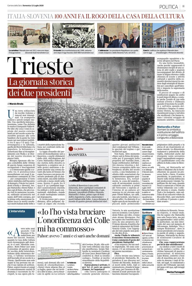 RT @carlomuscatello: #Trieste #NarodniDom #Italia #Slovenia #pernondimenticare 1920/2020 @Corriere @Quirinale https://t.co/LpPd4yfD3t