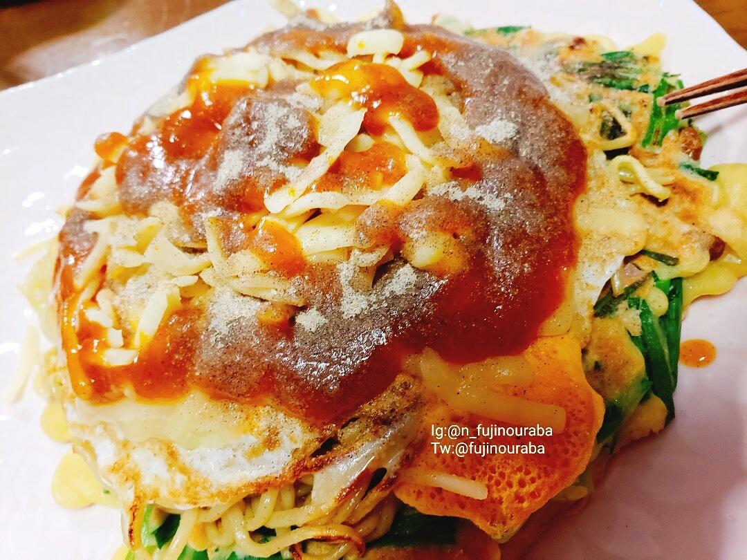今夜も夫にお好み焼きを焼いてもらいました。きょうは、カレーソースとチーズで。  #foodpic #everydaymeal #dinner #晩ごはん #おうちごはん