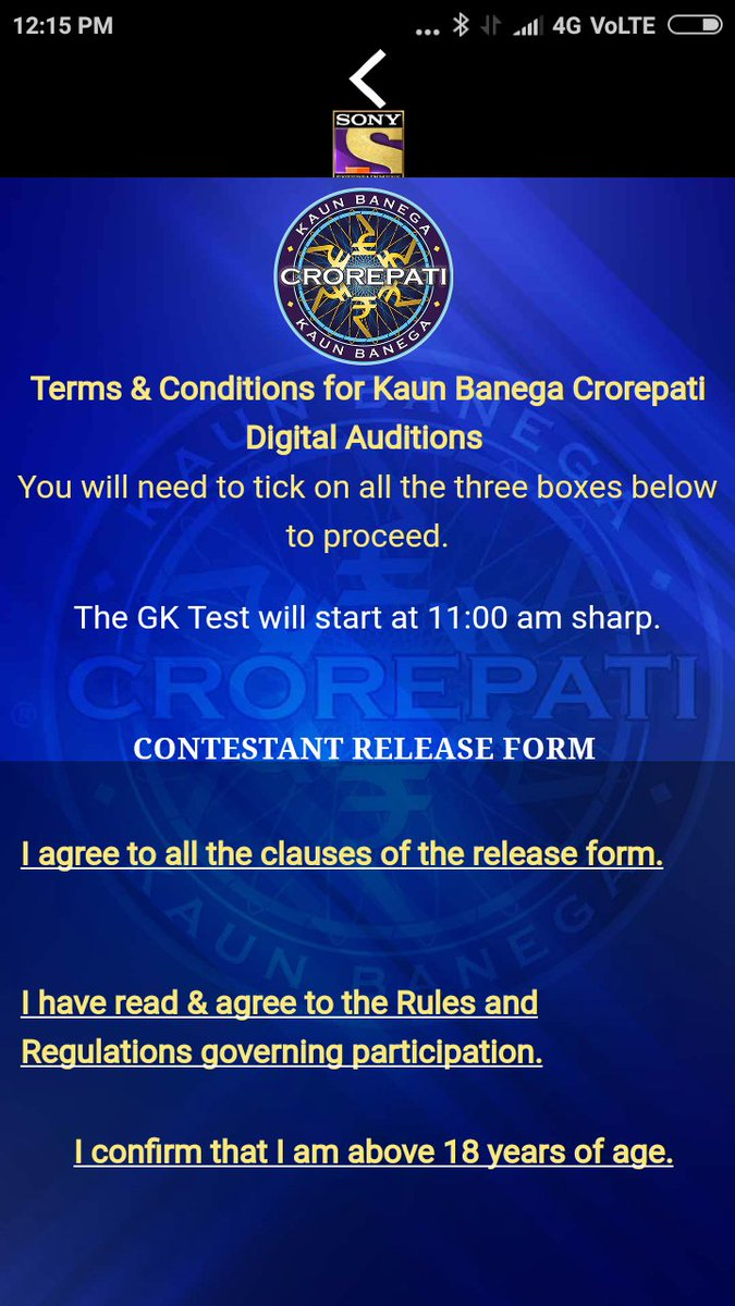 Sir, some things is problem in this website. Three boxes was not showing that time to click. I couldn't not proceed.#kbc @KBC response@india.com@<br>http://pic.twitter.com/6KthWV2fvg