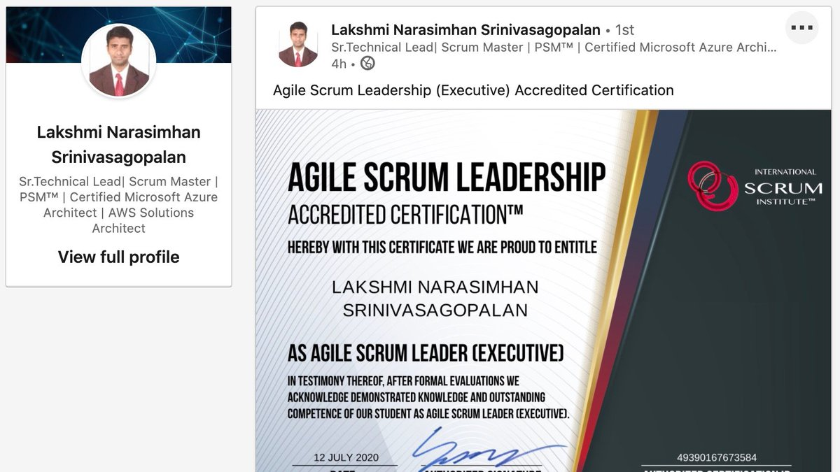 At @Scrum_Institute what makes us really proud is the success stories of our students! International Scrum Institute proudly announces another Scrum Training & Scrum Certification success story posted by our student! https://flickr.com/people/international_scrum_institute…pic.twitter.com/U3V2cAWjq7