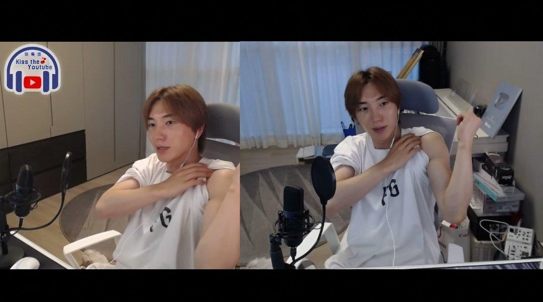 200712 #Leeteuk YT พี่ทึกบอกว่าเริ่มกลับมาเล่นเวทอีกครั้ง หลังจากห่างหายไปหลายเดือน เพราะมีคนทักบ่อยๆว่าผอมไป เลยจะเริ่มเล่นอีกครั้ง โชว์กล้ามให้ดูด้วยบอกว่าเพิ่งเริ่มเล่นเอง 💪💪 https://t.co/1ZUPdaNGet