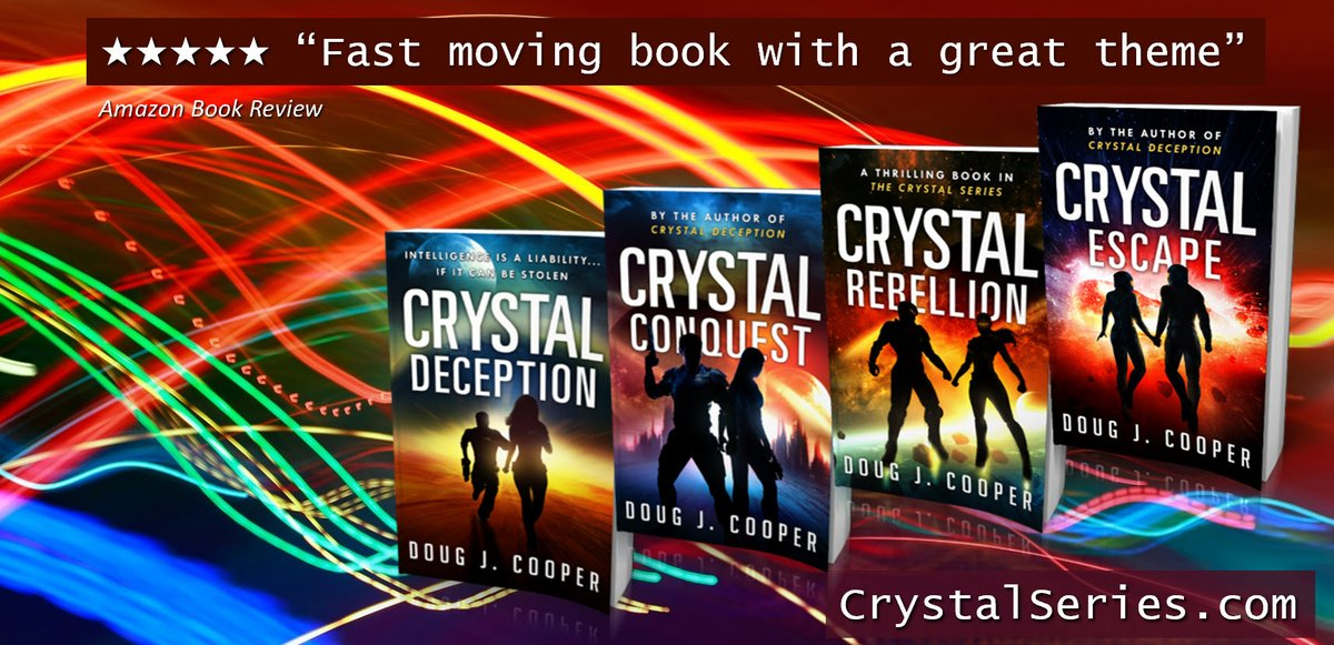 """""""You look like my dad. You did this so I'd like you more?""""  The Crystal Series – Classic sci-fi. Futuristic thrills. Start with first book CRYSTAL DECEPTION Series info: http://CrystalSeries.com Buy link: https://www.amazon.com/default/e/B00F7IJBP0… #kindleunlimited #scifi pic.twitter.com/4HcQD44IkY"""