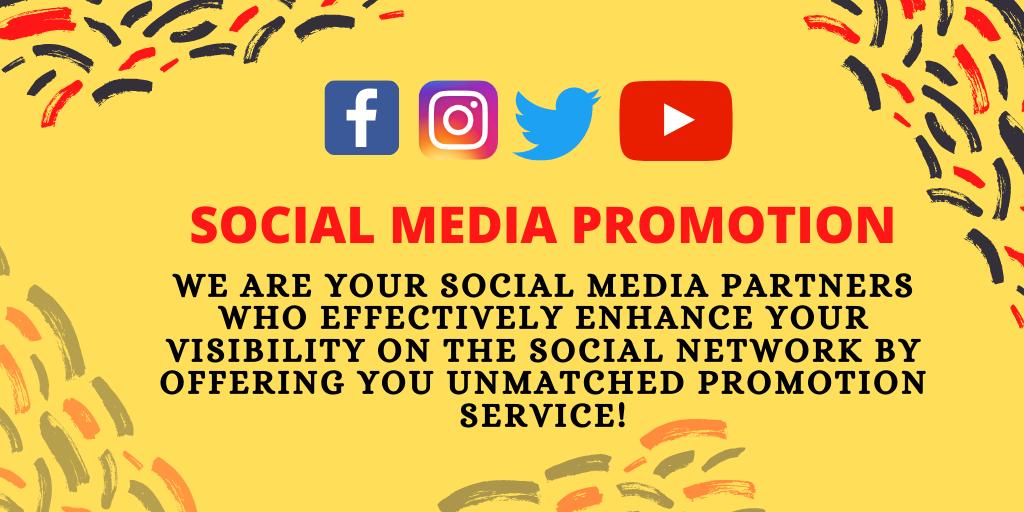 Social Media Promotion. #SocialMedia #SocialMediaDay #socialmediamarketing #socialmediamanager #Fiverr #fiverrseller #FiverrGigs #DigitalMarketing #DigitalMarketingAgency #digitalmarketer #Instagram #InstagramLive #instagrammarketing #instagramposts https://t.co/XbAdYsPV7e