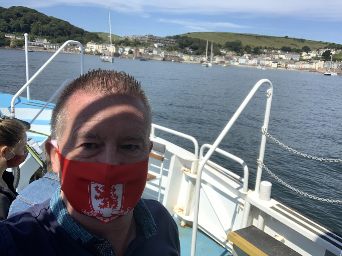 First ferry trip to Cawsand post lockdown 🙂 Not wearing my mask proudly after yesterday's fiasco but still@supporting my local team #UTB https://t.co/Ci0yz1WsvQ