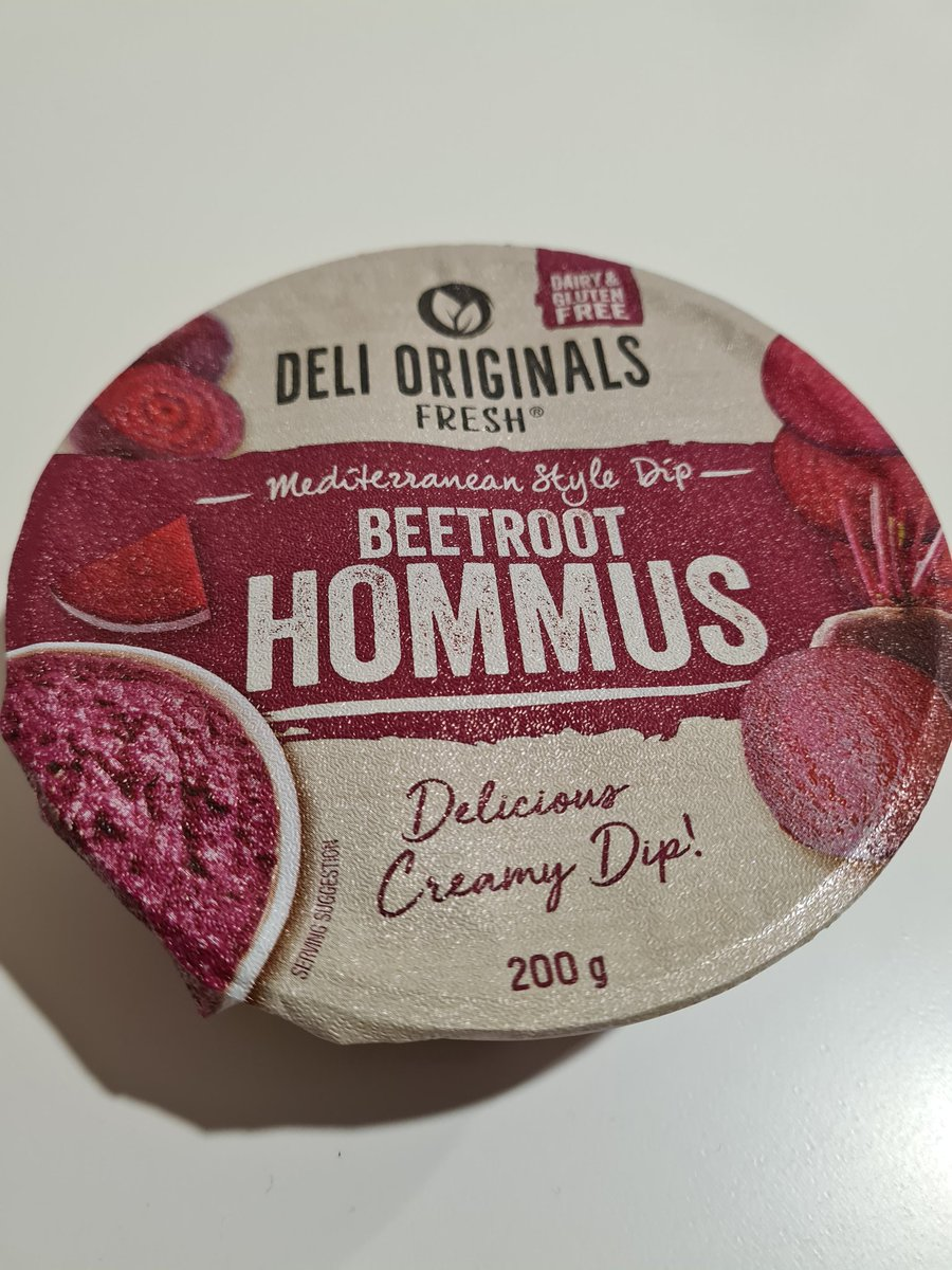 """Vegan Food Thoughts No.7: - Deli Originals Beetroot Hommus - https://t.co/bCMXDMfoiI  """"there was too much beetroot in this.""""   """"a hommus textured beetroot dip.""""  """"It's not a bad taste, it's just agressively beetrooty.""""  #vegan #veganfood #vegandip #hommus #beetroot https://t.co/jngSNXrKrx"""