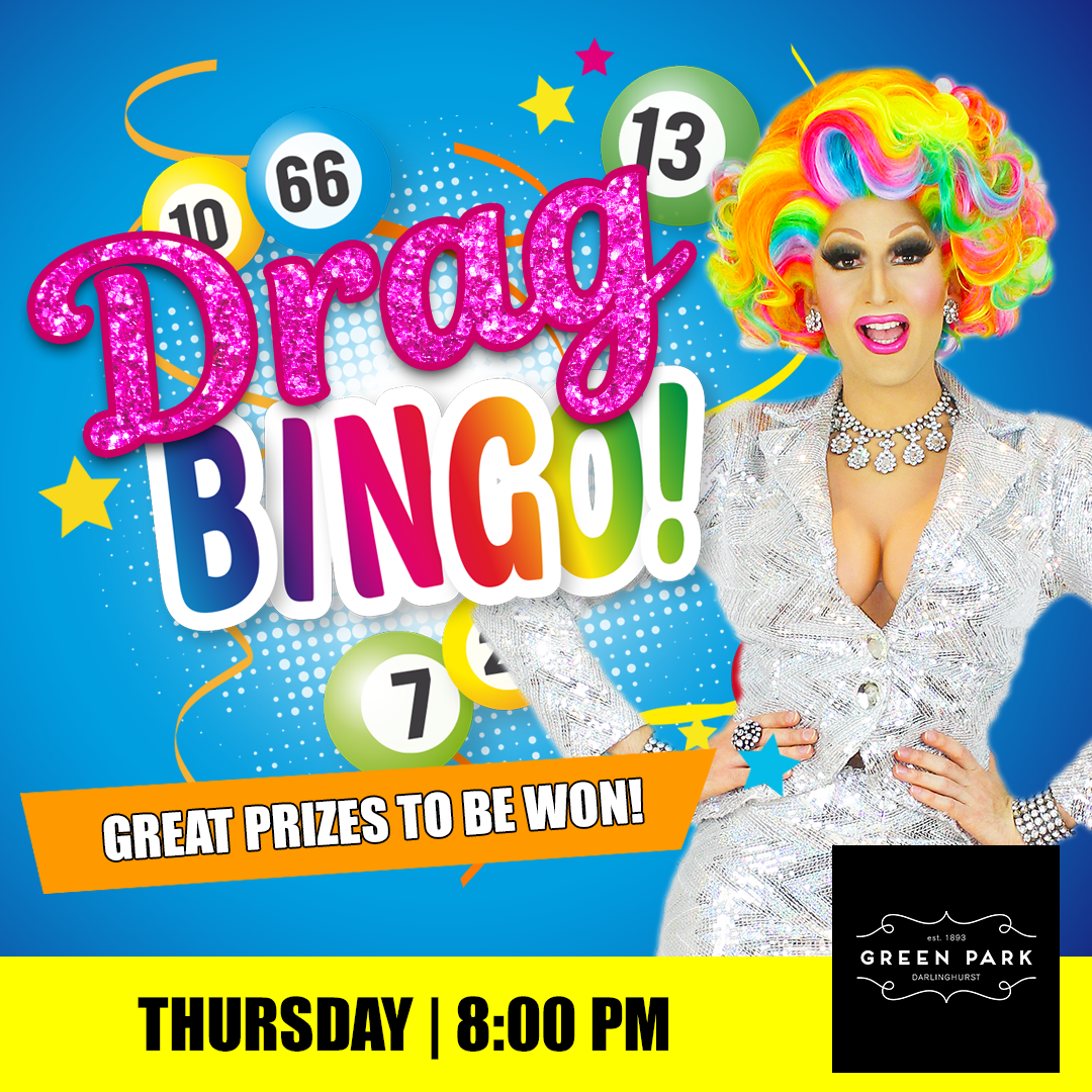 We're back, back, back again, Darlings! !   Join us for Drag Bingo at the Green Park Hotel Thursday night hosted by Prada Clutch! Balls drop 8:00 PM. Great prizes to be won! #DragBingo #BingoSydney #SydneyDragQueenpic.twitter.com/f8tcs155bx