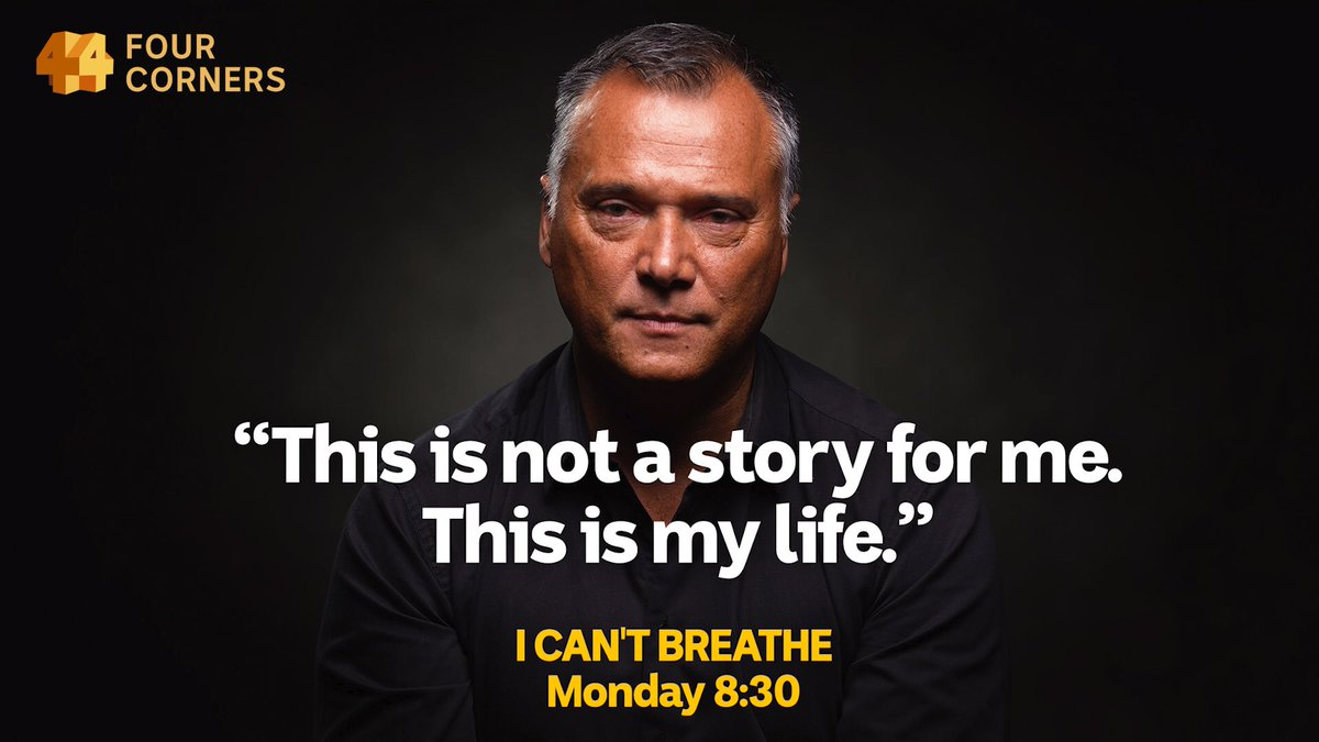 Watch this. It's riveting. 'I Can't Breathe', Monday on #4Corners #BLM @abcnews https://t.co/5PKzZBHYGF