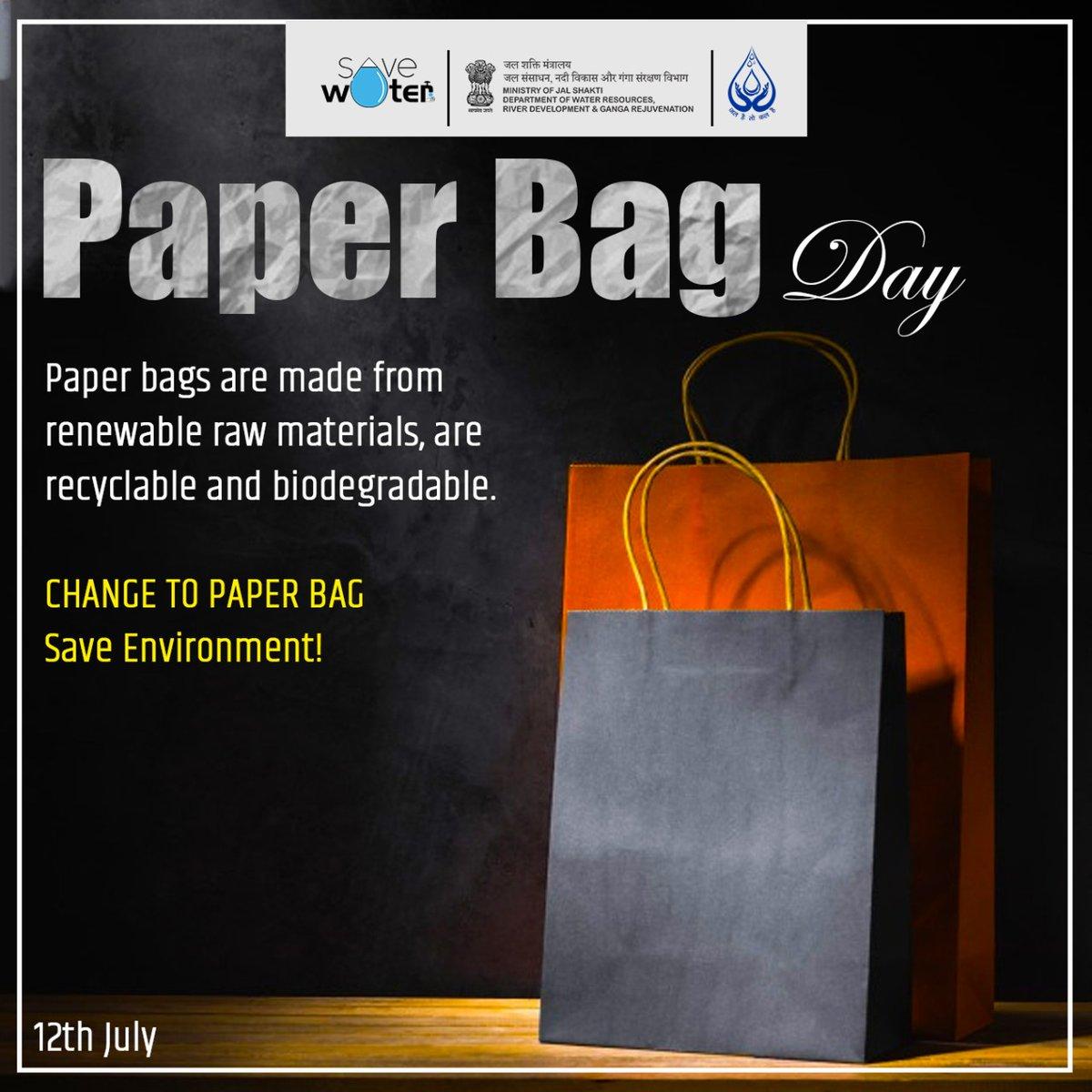 Let's make a shift to a better world🛍️#PaperBagDay #SayNoToSingleUsePlastic #SaveEnvironment https://t.co/CyDjKxg80X
