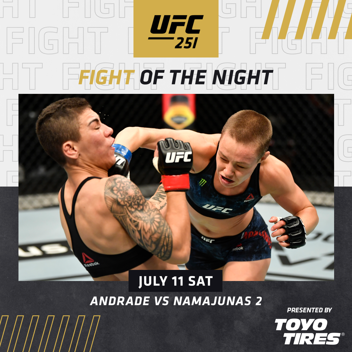 This rematch delivered! 🙌  🌹 @RoseNamajunas 🇧🇷 @JessicaMMApro  [ B2YB @ToyoTires ] #UFC251 | #InAbuDhabi | @VisitAbuDhabi https://t.co/7vEH4Dd4WP