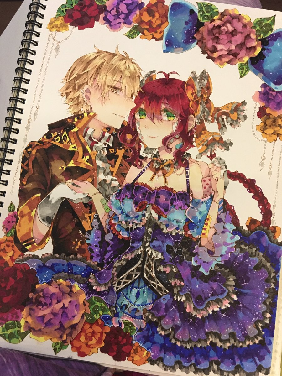 ( retweets are super appreciated) copics artwork i made in cotman watercolor paper last year for @/kairnn in instagram for her drawing contest ! it took a whole week to do this.. #drawing #CopicMarkers #mangaart #art #ikemen #beautiful #artidn #traditionalart #Sparkle https://t.co/ImSJ3y8lMg