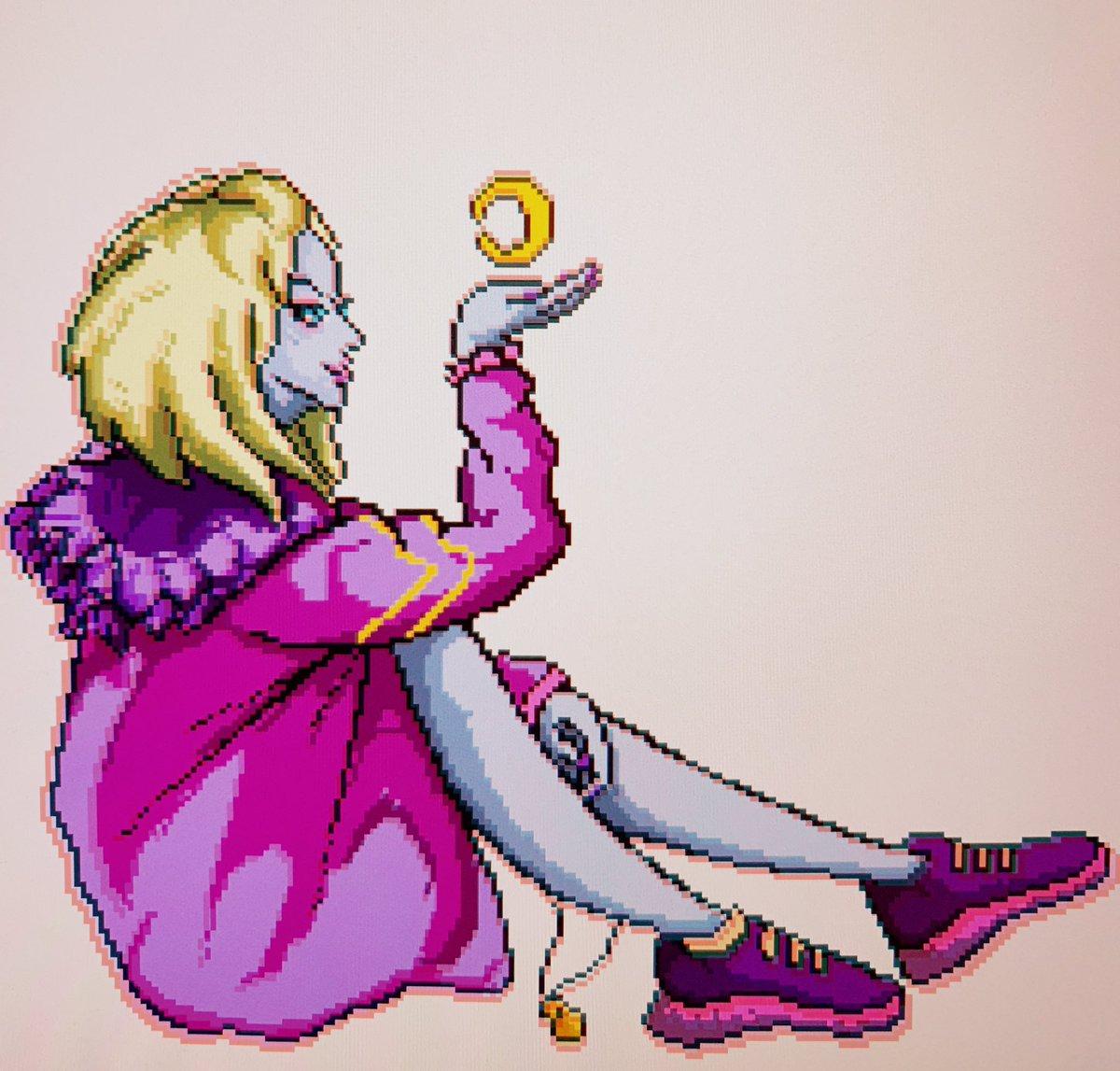 #pixelart #gameart RT @yi_ya_yi_ya_yo: WIP ..👀✍🏻 #drawing #pixel #pixelart #ドット絵 #destiny2 #marasov #Retro #moonaestetic