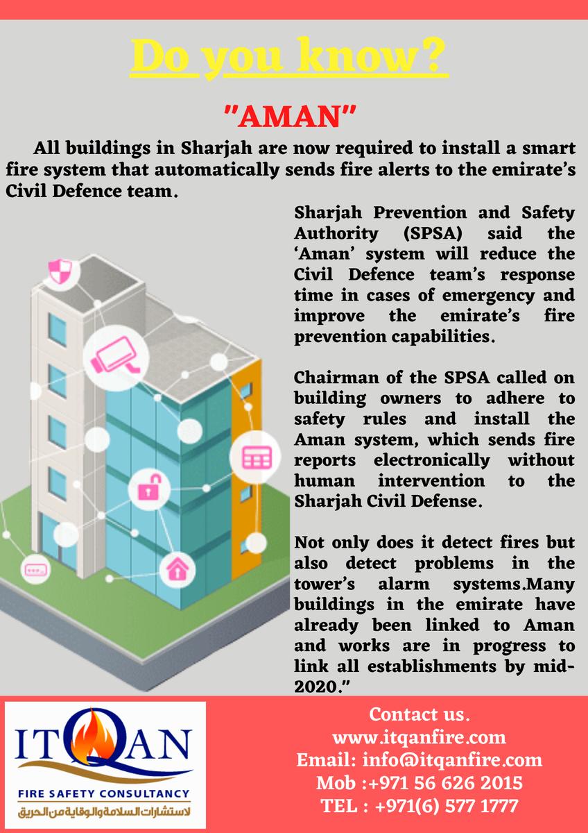 #itqanfireandsafetyconsultancy #Civildefence #facade #cladding #AMANsmartsystem #UAE #fireprotection #firesafety #firedetection #firestoppingpic.twitter.com/EyBRUKlhxX