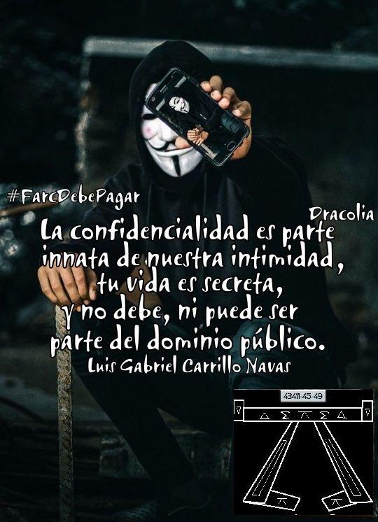 """@DELAESPRIELLAE @Josemcampoc @lorenzmurcia @CorpoRosaBlanca @VickyDavilaH @CGurisattiNTN24 #MananasBLU """"La confidencialidad es parte innata de nuestra intimidad, tu vida es secreta, y no debe ni puede, ser parte del dominio público"""" Luis Gabriel Carrillo Navas  @helenordonez @CancinoAbog @DELAESPRIELLAE @Florencia_Jack @arrebol56 @rijecas @janethgomez139   @elkin_isaza https://t.co/AktvmP8GeT"""