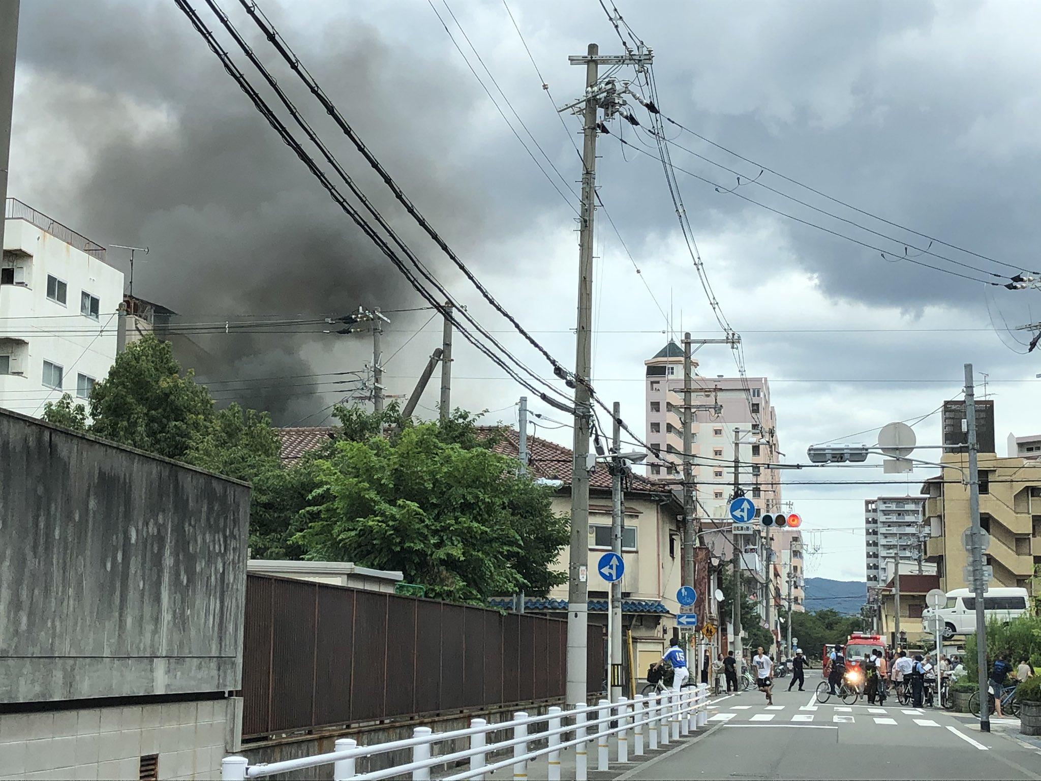 東住吉区の火災現場の画像