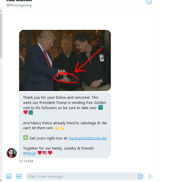 #MAGAROLLERCOASTER #ENATIONTRAINS  #MAGAQUEENTRAINS  I got a couple of DM's like this from new followers.  It links to a website in Eastern Europe which is probably a spoof IP.  I just blocked them but I thought folks should be careful. https://t.co/8G097Dgr6w