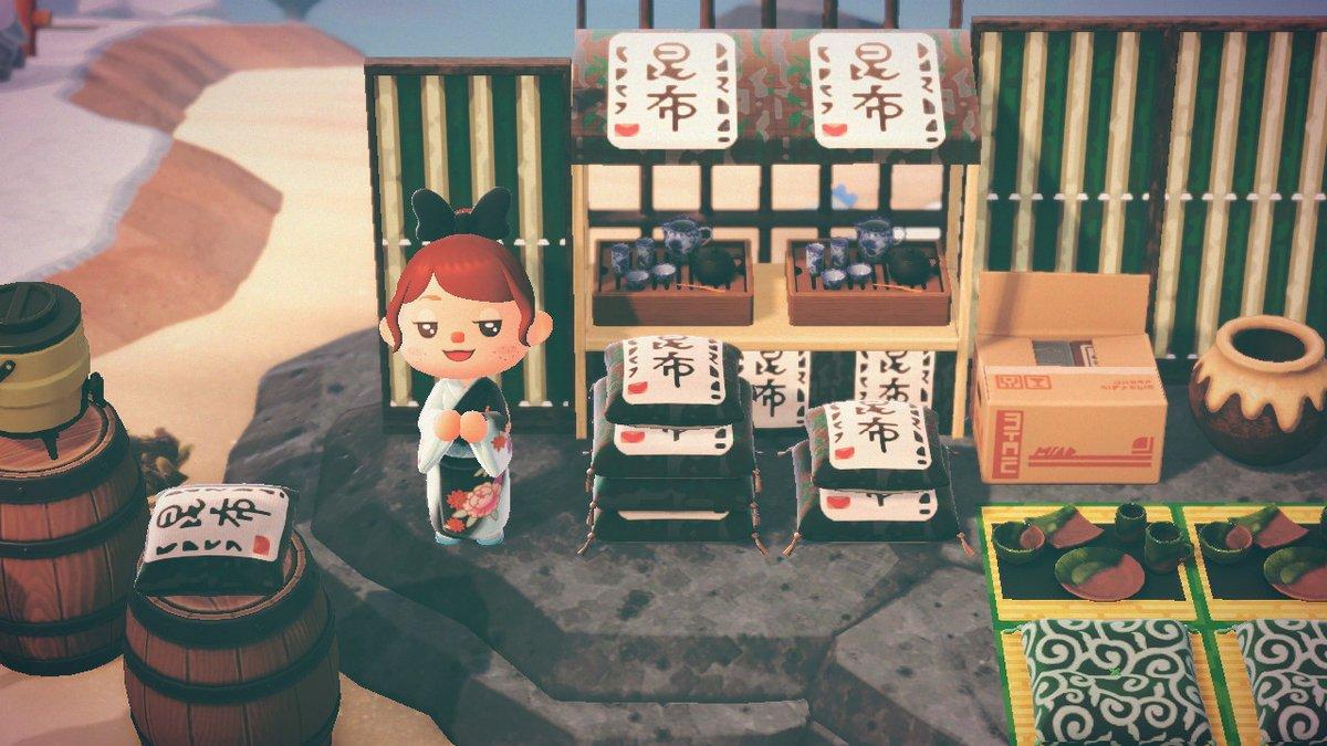 Remade my kelp shop today~ #どうぶつの森   #AnimalCrossing   #ACNH   #NintendoSwitch #あつ森写真部 #マイデザイン
