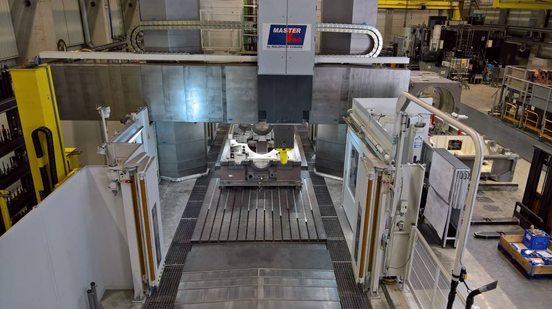 Faster fabrication of components weighing tons. Voith is working with a MasterTec with Siemens Control.  #waldrich #coburg #waldrichcoburg #siemens #milling #voith #ZeroLimits #100 #2020  https://t.co/re78S1kE9U https://t.co/Mk8M6oOOwl