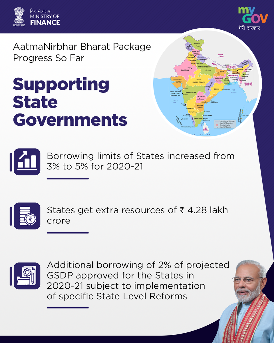 Providing support to the State Governments. #AatmaNirbharBharat https://t.co/voPQh6JXvn https://t.co/b0rGcpSrSN