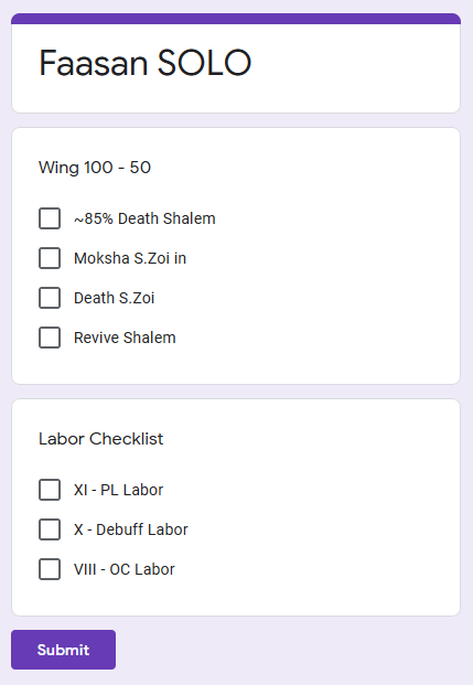 trimmed down my faasan solo checklist to just include the essential stuff that i need to keep track of (most especially labor clears lmao) https://t.co/vIciaxrhpd