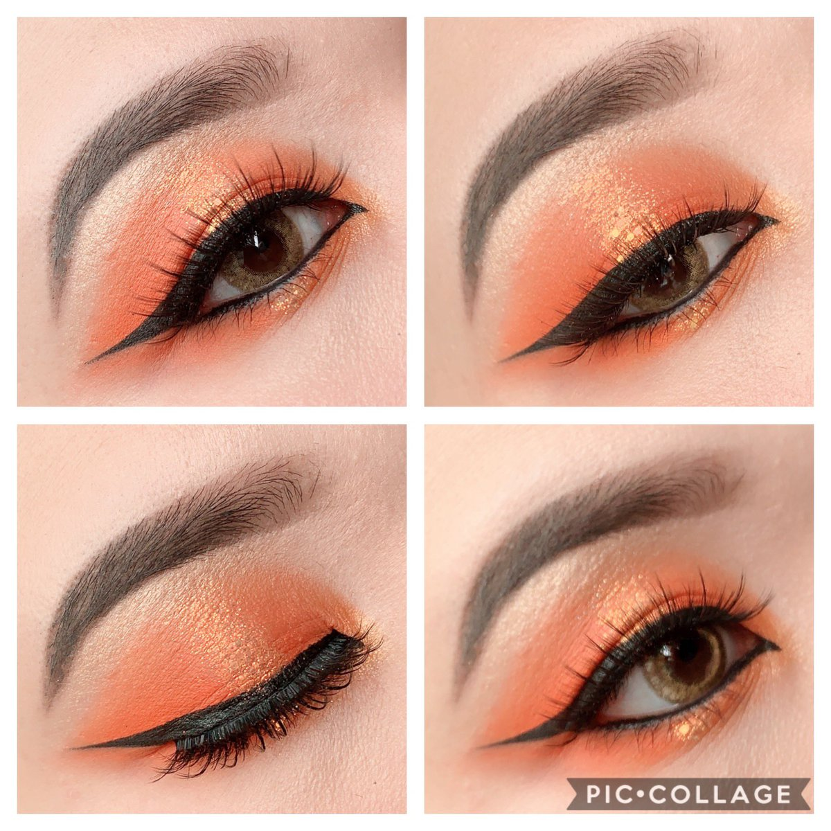 Orange 🍊 makeup   オレンジメイクリクエストがあったから やったよぉ🧡🧡🧡  Eyeshadow @ColourPopCo Orange You Glad?Palette🧡  Colour contact @lilyanna_shop LILMOON CRAEMBEIGE  #make #メイク #カラポ #リリーアンナ公式アンバサダー #LILMOON #CREAMBEIGE #リルムーン #クリームベージュ