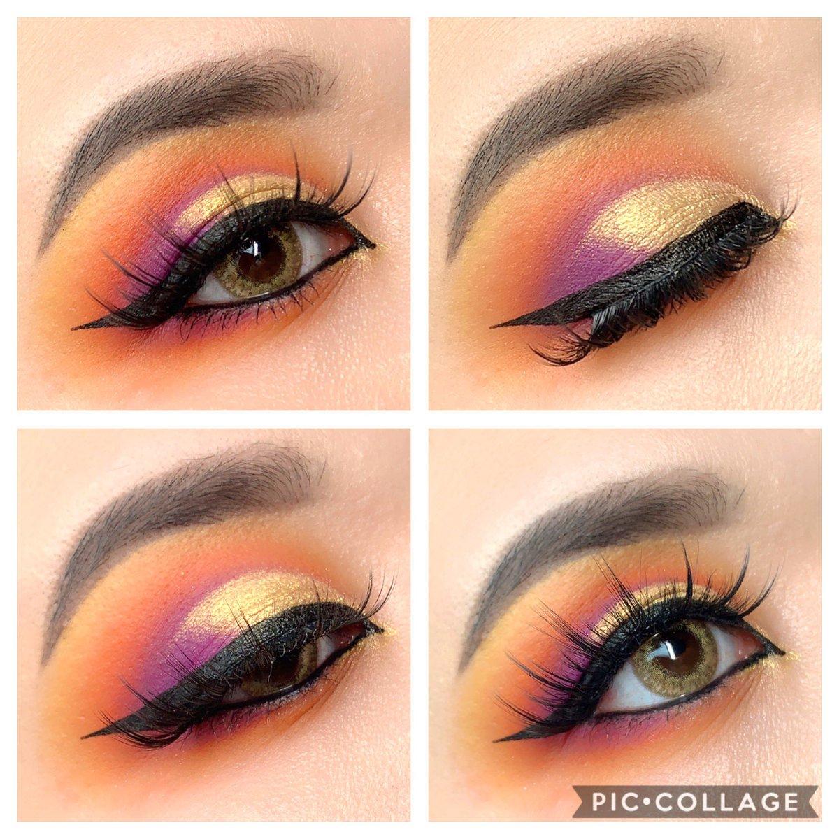 Sunset 🌅 makeup  ちょっと...やりたかったやつと違うから... リベンジする...  Eye Shadow @bperfectcosm CARNIVAL XL PRO   Colour contact @lilyanna_shop LILMOON CRAEMBEIGE  #make #メイク #ビーパフェクト #リリーアンナ公式アンバサダー #LILMOON #CREAMBEIGE #リルムーン #クリームベージュ