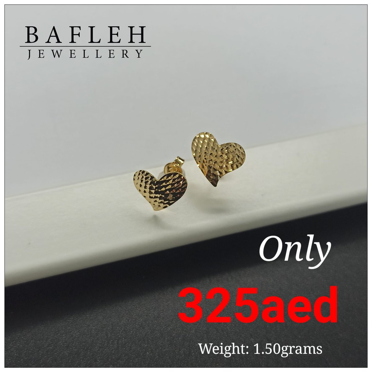 """Be beautiful Everyday with Real 18K of Gold"" #earrings  You can visit our any Bafleh retail store nearby your place and GET YOURS NOW! ⁦  🏠 Home delivery available now!* (for purchase above AED 2000/ - & around dubai only) ✉️ For ORDER direct message us."